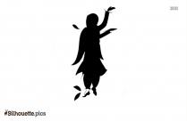 Bhangra Cartoon Silhouette Illustration