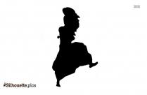 Bhangra Dancer Silhouette Clipart