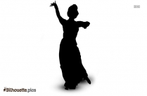 Indian Dance Cartoon Silhouette Free Vector Art