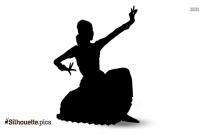 Bharatanatyam Dancer Silhouette Vector Image