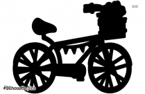 Kids Bicycle Silhouette Vector And Graphics