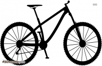 Bicycle Black And White Silhouette Picture