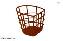Bicycle Basket Silhouette Free Vector Art