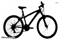 Bicycle Cartoon Silhouette Free Vector Art