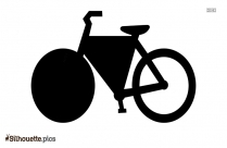 Cartoon Bicycle Drawing Silhouette