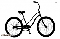 Electric Hunting Bike Silhouette Image