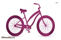 Mountain Bicycle Silhouette Drawing