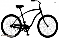 Free Geared Bicycle Silhouette