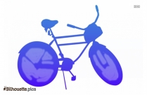 Bicycle Silhouette Clip Art Image