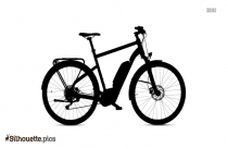 Bicycle Drawing Silhouette Clipart