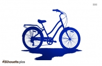 Bicycle With Basket Silhouette Vector And Graphics