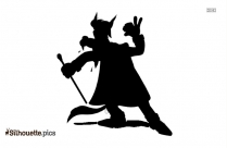 Big Bad Wolf Silhouette Image