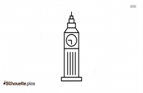 Big Ben Clock Tower Silhouette Vector Silhouette