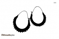 Big Hoop Earrings Silhouette Picture