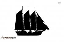 Sailing Ship Icon Silhouette
