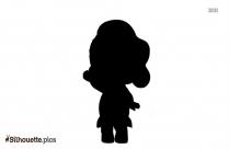 Cartoon Doll Silhouette Background