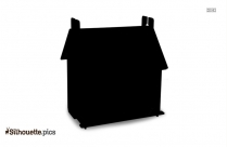 Toy House Clipart || Doll House Silhouette