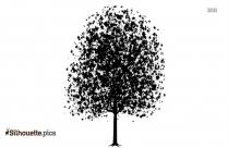 Cartoon Tree Drawing Vector Silhouette