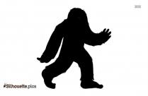 Bigfoot Cartoon Silhouette Illustration