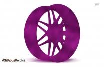 Racing Wheel Silhouette