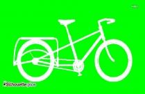 Bike Vector Silhouette Image