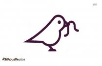 Cute Bird Clip Art Silhouette