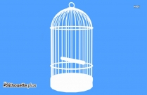 Bird Cage Drawing Silhouette