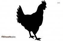 Chicken Sitting Clip Art Silhouette Image