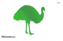 Black Bird Cartoon Silhouette Image