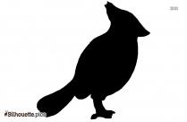 Cartoon Chickadee Silhouette