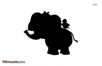 Angry Elephant Silhouette Vector And Graphics