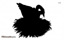 Fat Baby Bird Vector Silhouette