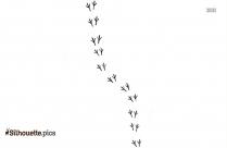 Bird Footprint Silhouette, Vector Art