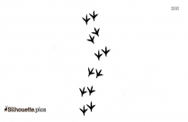 Bird Footprints Silhouette Image And Vector