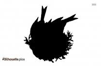 Robin Silhouette Bird Image