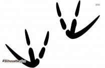 Bird Paw Prints Silhouette Art