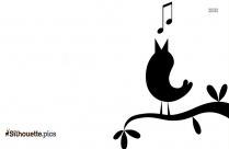 Birds Singing Clipart Silhouette
