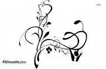 Birds On A Branch Corner Clip Art Design Silhouette