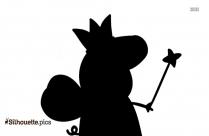 Pig Back Pose Silhouette