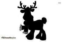 Rudolph Reindeer Background Silhouette