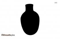 Black Ancient Irish Pottery Silhouette Image