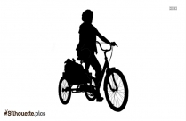 Black And White Adult Tricycle Silhouette