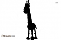 Black And White African Giraffe Silhouette