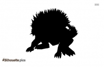 Black And White Anguirus Silhouette