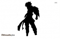 Black And White Anime Evil Fairy Silhouette
