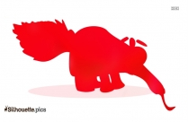Anteater Silhouette Clipart Image