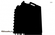 Commercial Building Silhouette Free Vector Art