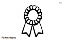 Black And White Award Ribbon Silhouette