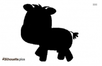 Holstein Calf Silhouette Drawing