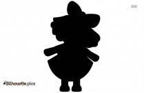 Baby Doll Silhouette Vector